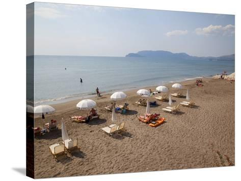 Beach, Kalamaki, Zakynthos, Ionian Islands, Greek Islands, Greece, Europe-Frank Fell-Stretched Canvas Print