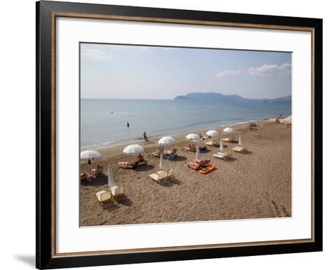 Beach, Kalamaki, Zakynthos, Ionian Islands, Greek Islands, Greece, Europe-Frank Fell-Framed Art Print
