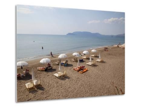 Beach, Kalamaki, Zakynthos, Ionian Islands, Greek Islands, Greece, Europe-Frank Fell-Metal Print