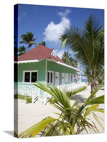 Beach Hut, Bavaro Beach, Punta Cana, Dominican Republic, West Indies, Caribbean, Central America-Frank Fell-Stretched Canvas Print