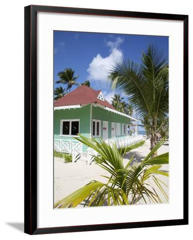 Beach Hut, Bavaro Beach, Punta Cana, Dominican Republic, West Indies, Caribbean, Central America-Frank Fell-Framed Art Print