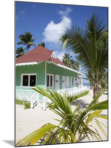 Beach Hut, Bavaro Beach, Punta Cana, Dominican Republic, West Indies, Caribbean, Central America-Frank Fell-Mounted Photographic Print
