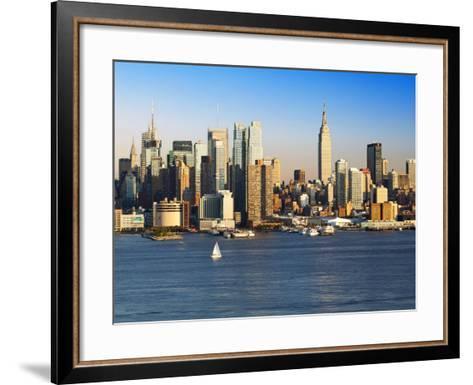 View of Midtown Manhattan across the Hudson River, Manhattan, New York City, New York, United State-Gavin Hellier-Framed Art Print