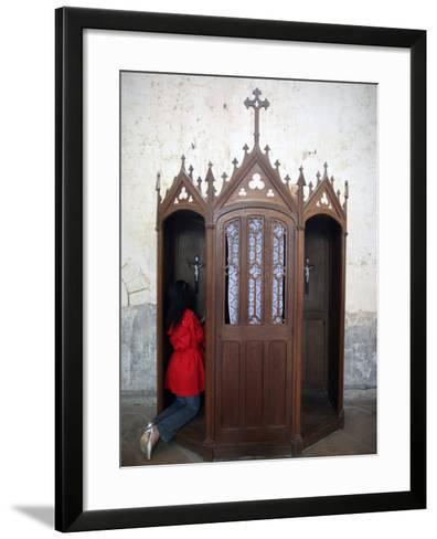 Confession Booth, La Ferte-Loupiere, Yonne, Burgundy, France, Europe-Godong-Framed Art Print