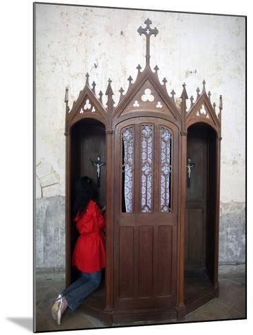 Confession Booth, La Ferte-Loupiere, Yonne, Burgundy, France, Europe-Godong-Mounted Photographic Print