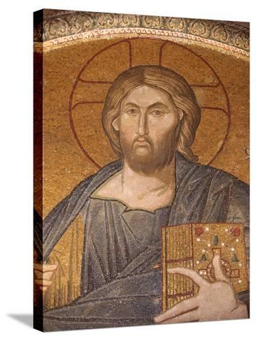 Jesus Pantocrator Mosaic, Chora Church Museum, Istanbul, Turkey, Europe-Godong-Stretched Canvas Print