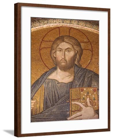 Jesus Pantocrator Mosaic, Chora Church Museum, Istanbul, Turkey, Europe-Godong-Framed Art Print