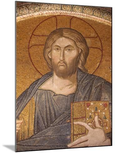 Jesus Pantocrator Mosaic, Chora Church Museum, Istanbul, Turkey, Europe-Godong-Mounted Photographic Print