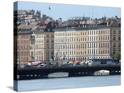 Mont Blanc Bridge, Geneva, Switzerland, Europe-Godong-Stretched Canvas Print