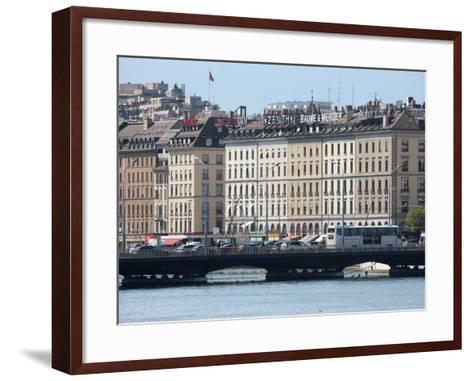 Mont Blanc Bridge, Geneva, Switzerland, Europe-Godong-Framed Art Print