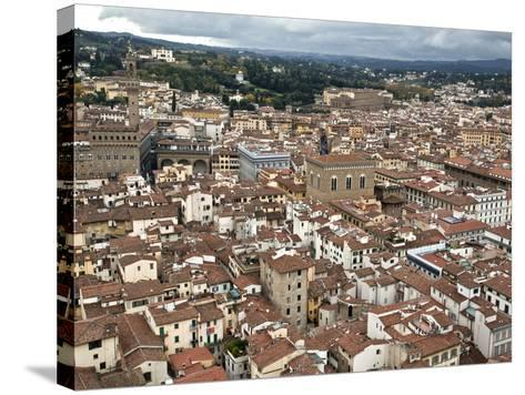 View of Florence from the Dome of Filippo Brunelleschi, Florence, UNESCO World Heritage Site, Tusca-Godong-Stretched Canvas Print