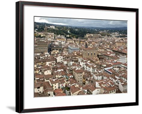 View of Florence from the Dome of Filippo Brunelleschi, Florence, UNESCO World Heritage Site, Tusca-Godong-Framed Art Print