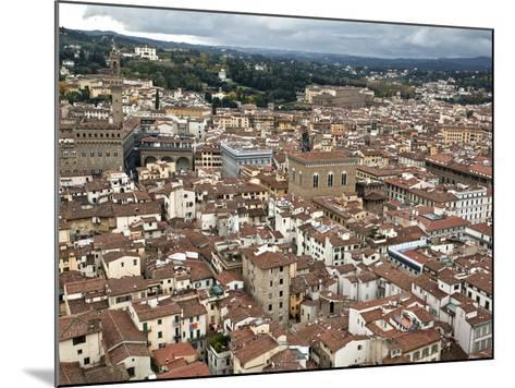 View of Florence from the Dome of Filippo Brunelleschi, Florence, UNESCO World Heritage Site, Tusca-Godong-Mounted Photographic Print