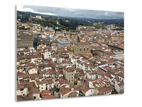 View of Florence from the Dome of Filippo Brunelleschi, Florence, UNESCO World Heritage Site, Tusca-Godong-Metal Print