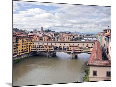 View of the River Arno and Ponte Vecchio, Florence, UNESCO World Heritage Site, Tuscany, Italy, Eur-Godong-Mounted Photographic Print