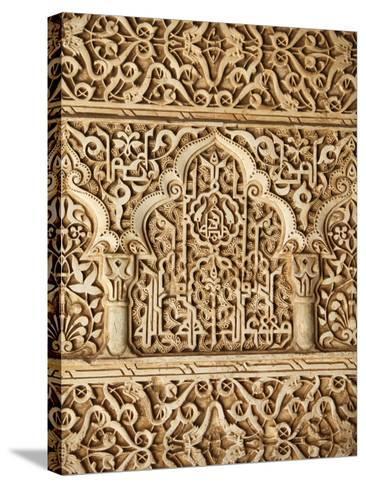 Palacio De Los Leones Sculpture, Nasrid Palaces, Alhambra, UNESCO World Heritage Site, Granada, And-Godong-Stretched Canvas Print