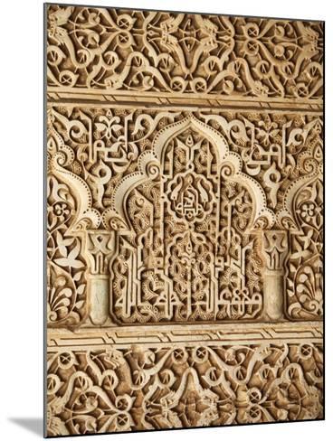 Palacio De Los Leones Sculpture, Nasrid Palaces, Alhambra, UNESCO World Heritage Site, Granada, And-Godong-Mounted Photographic Print