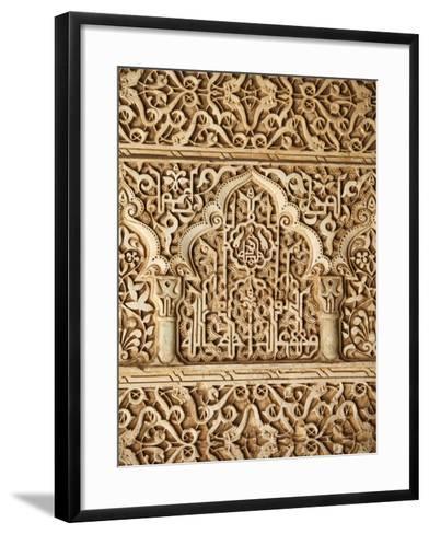 Palacio De Los Leones Sculpture, Nasrid Palaces, Alhambra, UNESCO World Heritage Site, Granada, And-Godong-Framed Art Print