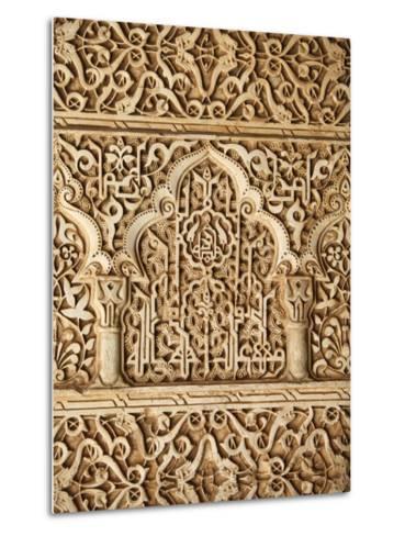 Palacio De Los Leones Sculpture, Nasrid Palaces, Alhambra, UNESCO World Heritage Site, Granada, And-Godong-Metal Print