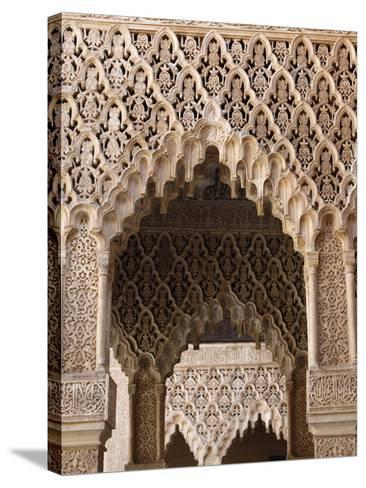 Palacio De Los Leones, Nasrid Palaces, Alhambra, UNESCO World Heritage Site, Granada, Andalucia, Sp-Godong-Stretched Canvas Print