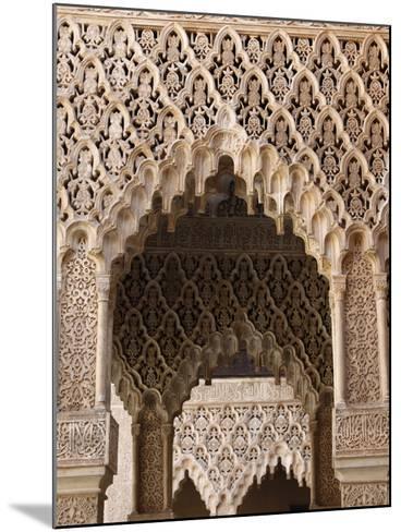 Palacio De Los Leones, Nasrid Palaces, Alhambra, UNESCO World Heritage Site, Granada, Andalucia, Sp-Godong-Mounted Photographic Print