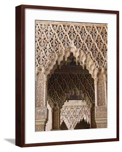 Palacio De Los Leones, Nasrid Palaces, Alhambra, UNESCO World Heritage Site, Granada, Andalucia, Sp-Godong-Framed Art Print