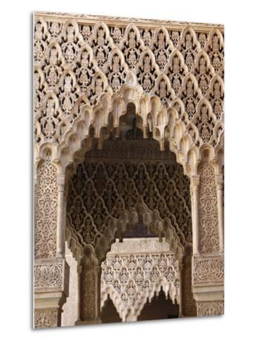 Palacio De Los Leones, Nasrid Palaces, Alhambra, UNESCO World Heritage Site, Granada, Andalucia, Sp-Godong-Metal Print