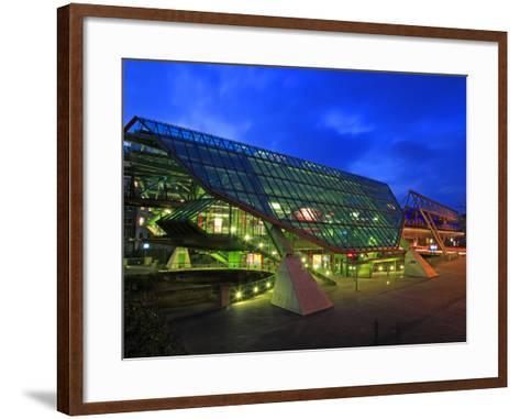 Station of Overhead Railway, Wuppertal, North Rhine-Westphalia, Germany, Europe-Hans Peter Merten-Framed Art Print