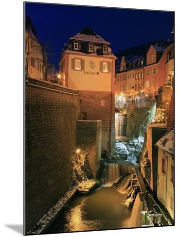 Old Town and Waterfall on River Leuk, Saarburg, Saar Valley, Rhineland-Palatinate, Germany, Europe-Hans Peter Merten-Mounted Photographic Print