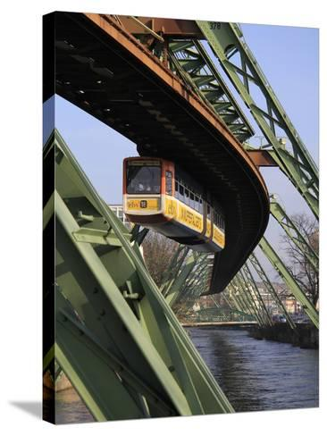 Overhead Railway over Th River Wupper, Wuppertal, North Rhine-Westphalia, Germany, Europe-Hans Peter Merten-Stretched Canvas Print
