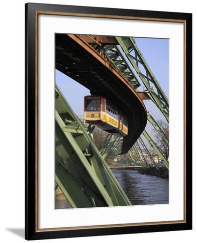 Overhead Railway over Th River Wupper, Wuppertal, North Rhine-Westphalia, Germany, Europe-Hans Peter Merten-Framed Art Print