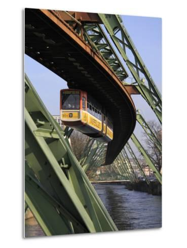 Overhead Railway over Th River Wupper, Wuppertal, North Rhine-Westphalia, Germany, Europe-Hans Peter Merten-Metal Print