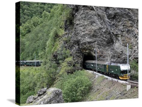 Flam Railway, Flam, Sogn Og Fjordane, Norway, Scandinavia, Europe-Hans Peter Merten-Stretched Canvas Print