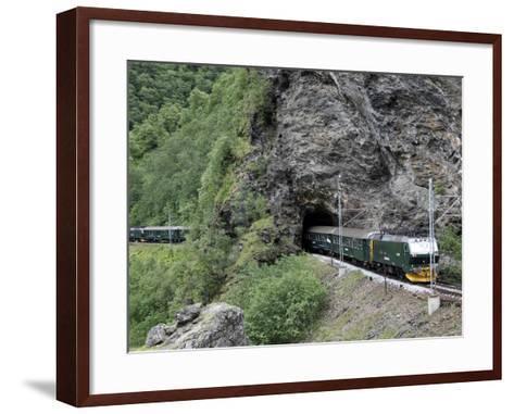 Flam Railway, Flam, Sogn Og Fjordane, Norway, Scandinavia, Europe-Hans Peter Merten-Framed Art Print