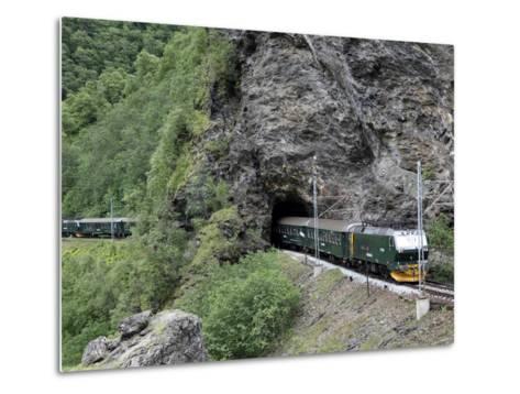Flam Railway, Flam, Sogn Og Fjordane, Norway, Scandinavia, Europe-Hans Peter Merten-Metal Print