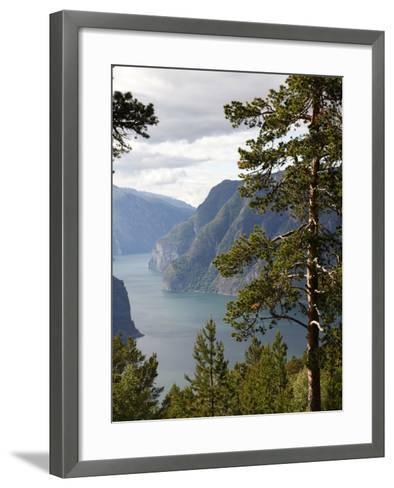 Aurlandsfjorden Near Aurlandsvangen, Sogn Og Fjordane, Norway, Scandinavia, Europe-Hans Peter Merten-Framed Art Print