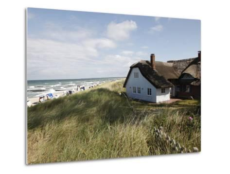 Ahrenhoop, Baltic Sea, Darvu-Fischland, Mecklenburg-Western Pomerania, Germany, Europe-Hans Peter Merten-Metal Print