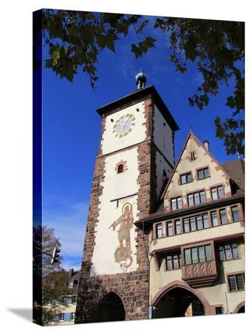Schwabentor, Old Town, Freiburg, Baden-Wurttemberg, Germany, Europe-Hans Peter Merten-Stretched Canvas Print