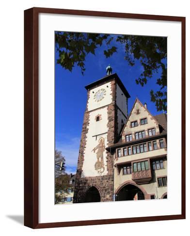 Schwabentor, Old Town, Freiburg, Baden-Wurttemberg, Germany, Europe-Hans Peter Merten-Framed Art Print