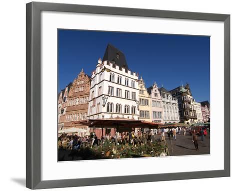 Market Square, Old Town, Trier, Rhineland-Palatinate, Germany, Europe-Hans Peter Merten-Framed Art Print