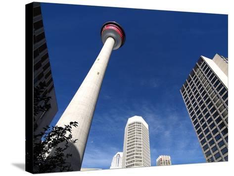 Calgary Tower, Calgary, Alberta, Canada, North America-Hans Peter Merten-Stretched Canvas Print
