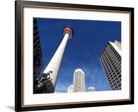 Calgary Tower, Calgary, Alberta, Canada, North America-Hans Peter Merten-Framed Art Print