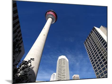 Calgary Tower, Calgary, Alberta, Canada, North America-Hans Peter Merten-Mounted Photographic Print
