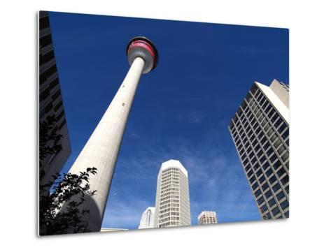Calgary Tower, Calgary, Alberta, Canada, North America-Hans Peter Merten-Metal Print