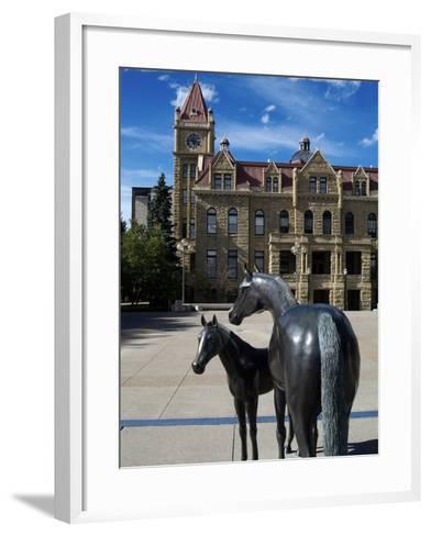 Sculpture at Calgary City Hall, Calgary, Alberta, Canada, North America-Hans Peter Merten-Framed Art Print