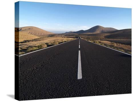 Road Near La Pared, Fuerteventura, Canary Islands, Spain, Europe-Hans Peter Merten-Stretched Canvas Print
