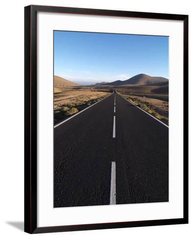 Road Near La Pared, Fuerteventura, Canary Islands, Spain, Europe-Hans Peter Merten-Framed Art Print