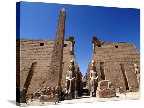 Luxor Temple, Luxor, Thebes, UNESCO World Heritage Site, Egypt, North Africa, Africa-Hans Peter Merten-Stretched Canvas Print