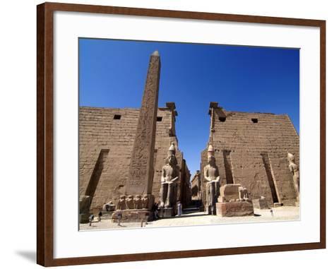 Luxor Temple, Luxor, Thebes, UNESCO World Heritage Site, Egypt, North Africa, Africa-Hans Peter Merten-Framed Art Print