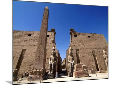 Luxor Temple, Luxor, Thebes, UNESCO World Heritage Site, Egypt, North Africa, Africa-Hans Peter Merten-Mounted Photographic Print